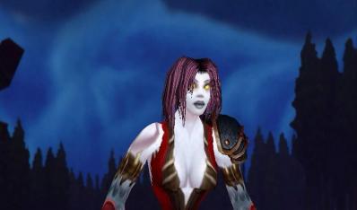 wow亡灵女皮甲幻化:红色系清凉装