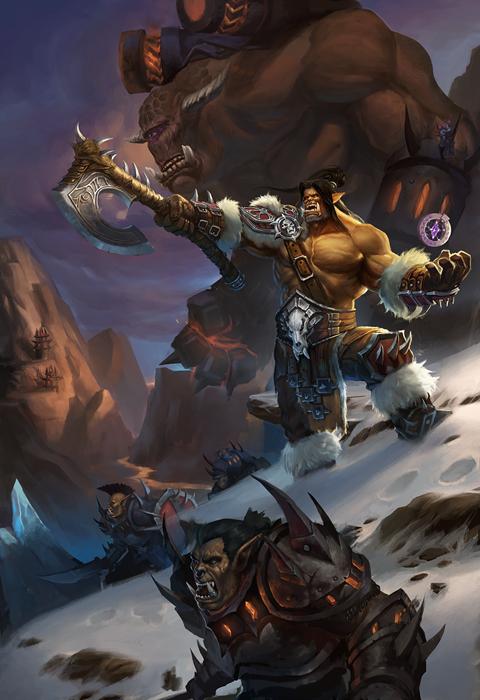 魔兽世界玩家精美画作推荐:冲锋吧,我的戈隆